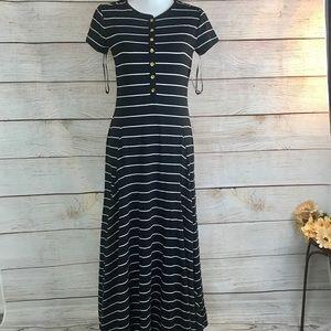 Lauren Ralph Lauren Dresses - Lauren Ralph Lauren Black Striped Henley Dress